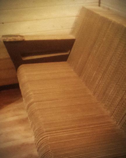 canapé carton arrondi